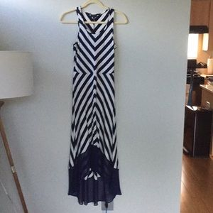 The Limited Navy/White Maxidress